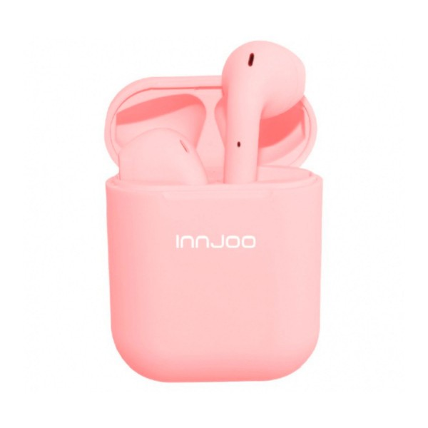 Innjoo go v2 rosa auriculares inalámbricos bluetooth y estuche batería
