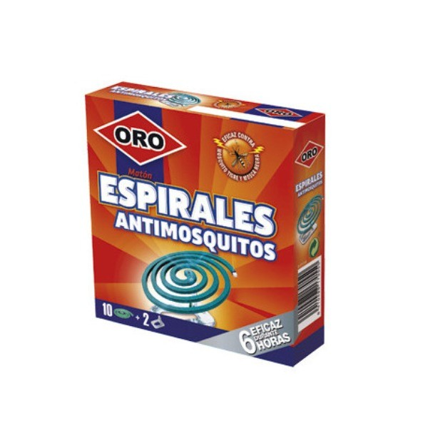 ORO INSECTICIDA ESPIRALES 10U 6 HORAS + 2 SOPORTES