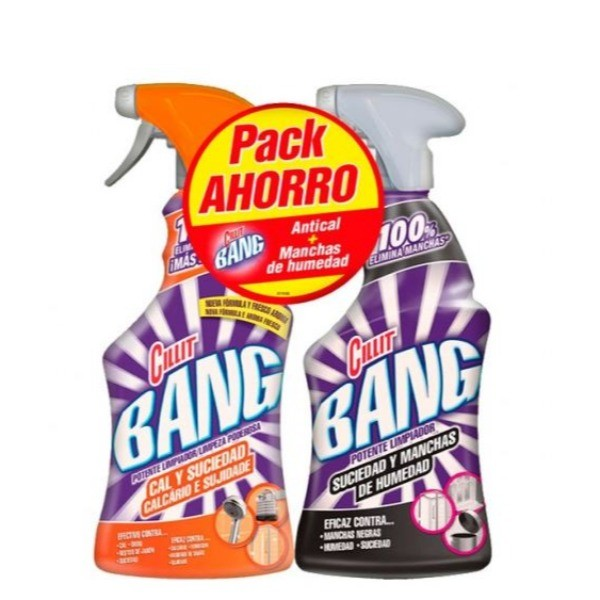 Cillit Bang Cal y Suciedad 750 ml + Quitamanchas 750 ml PACK AHORRO