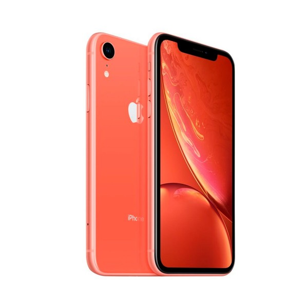 Apple iphone xr 128gb coral reacondicionado cpo móvil 4g 6.1'' liquid retina hd led hdr/6core/128gb/3gb ram/12mp/7mp