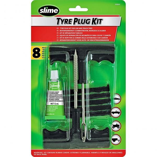 Kit Reparación Pinchazos para Arreglar de Neumáticos Kit Rueda Emergencia para Moto Coche Camión